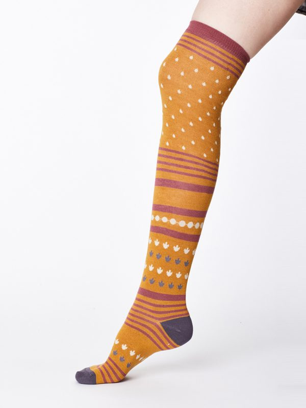 mustard coloured long socks