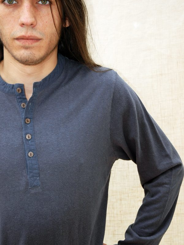 grandad shirt in hemp