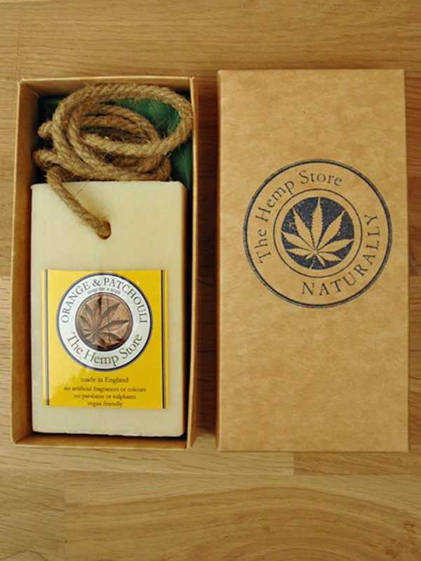 Gift Box with Hemp Soap on a Rope