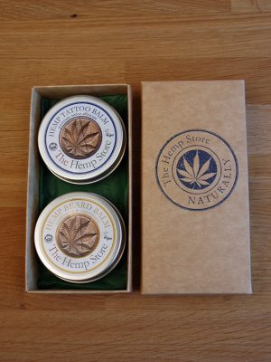 orange and patchouli hemp gift set