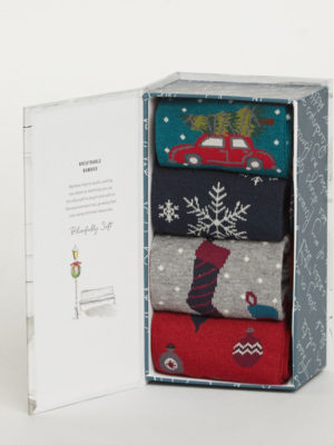 Bamboo Christmas Sock Box