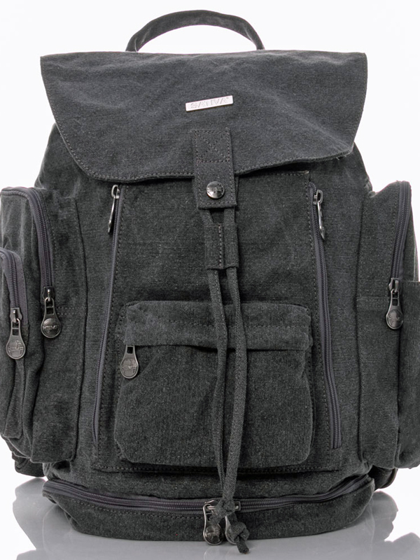 grey hemp backpack