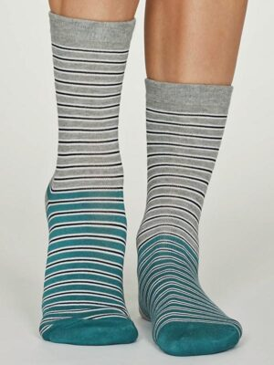 grey stripe socks